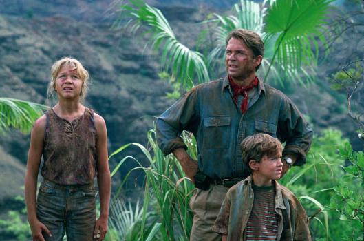 still-of-sam-neill,-ariana-richards-and-joseph-mazzello-in-jurassic-park-large-picture