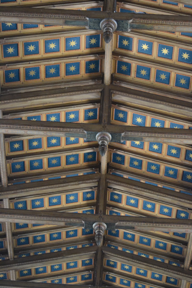 the decorative ceiling
