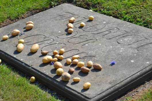 leaving new potatoes on old Fritz's grave ... or maybe the Irish were just here