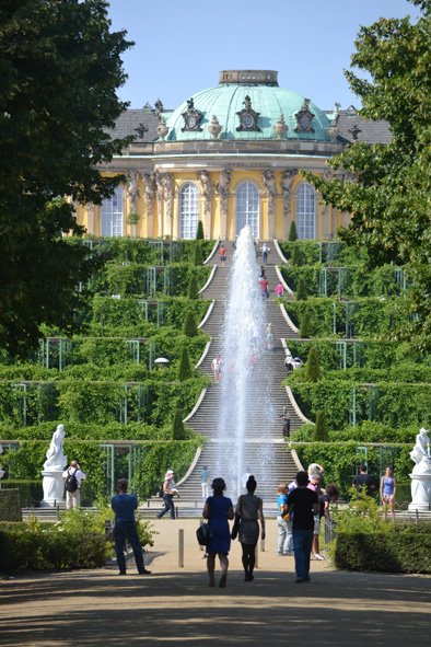 my first glimpse of Sanssouci