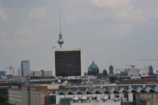looking out over Berlin