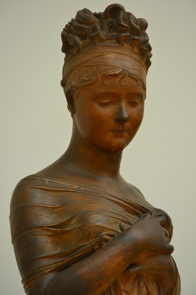 I fell in love with this beautifully sculptured woman, burnt clay